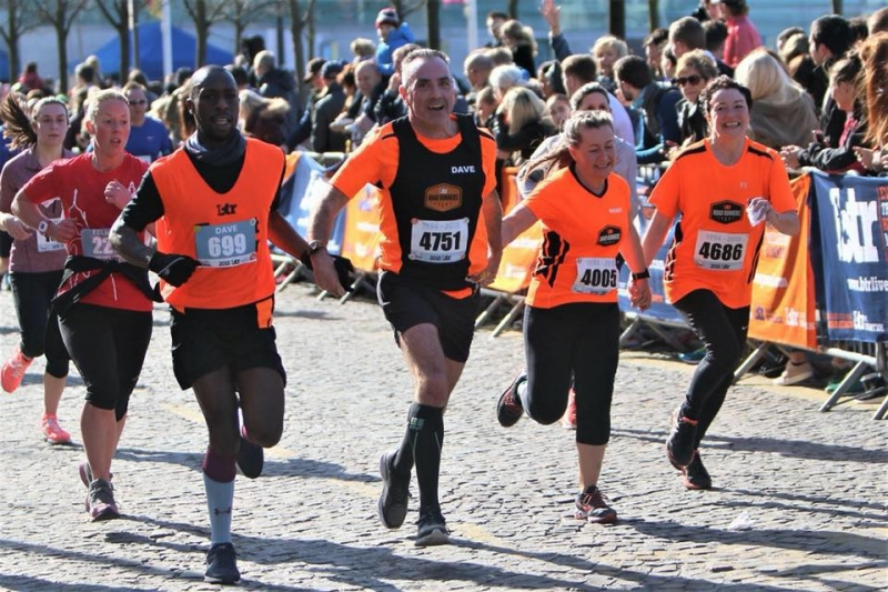 BTR Road Runners storm to the finish line at the Liverpool Half