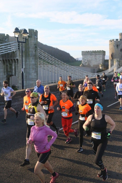 BTR storming along at the Conwy Half Marathon