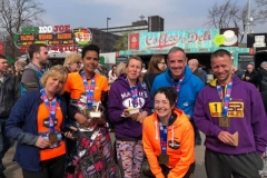 Manchester marathon runners and relay team