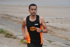 Abs putting in a shift in the Seaside 5k