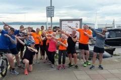 Road Runners strike a pose - training run around the marine lake