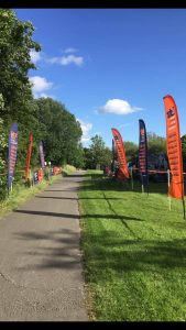 Looking from the finish line towards 'the dip'