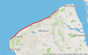 Map of the Wirral Coastal Run